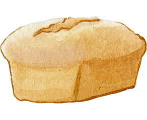 Simple drawing of a loaf of bread. Click to see Naomi's work projects and portfolio
